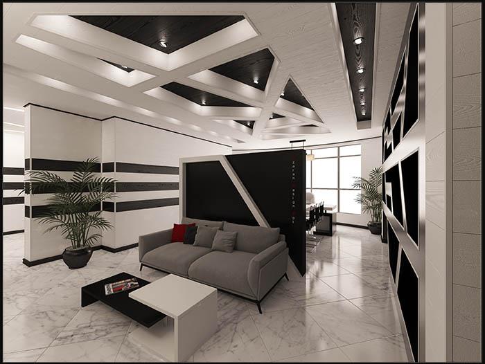 طراحی داخلی دفتر کار به شیوه مدرن