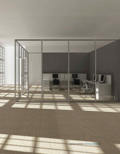 Single glazed partition